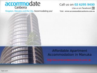 Affordable Apartment Accommodation in Manuka.ppt