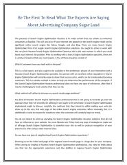 Be The First To Read What The Experts Are Saying About Advertising Company Sugar Land.doc
