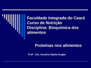 Proteínas nos Alimentos 2.ppt