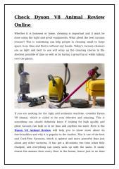 Check Dyson V8 Animal Review Online.doc